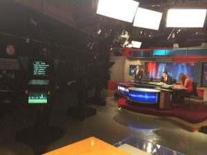 My view from the Edge set on WCCB-TV. Happiness :)